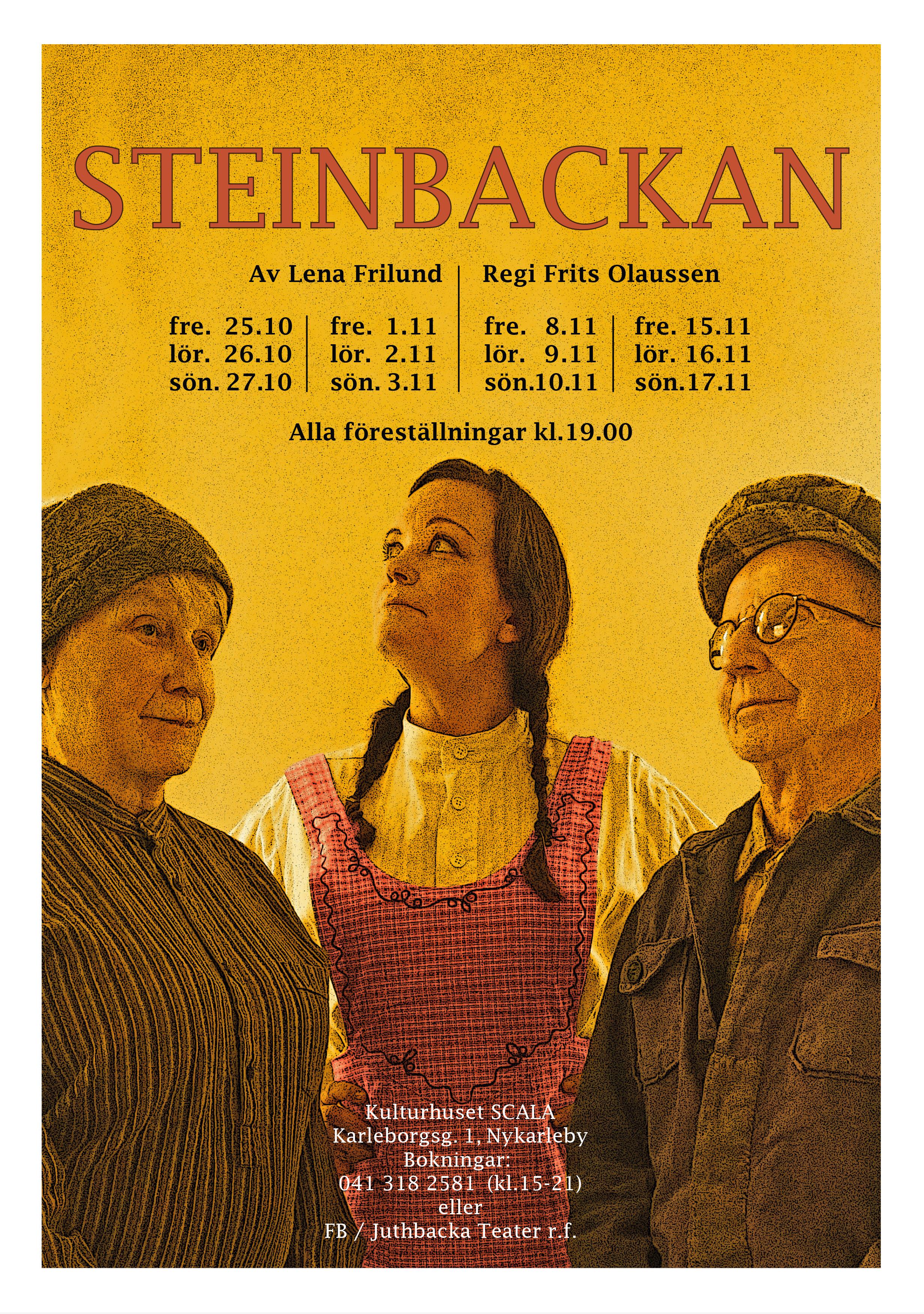 affisch Steinbackan A4  Tryckeri